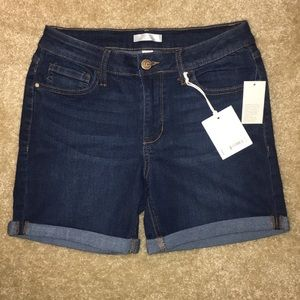 NWT LC Lauren Conrad dark denim shorts
